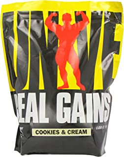 Real Gains Weight Gainer with Complex Carbs and Whey-Micellar Casein Protein Matrix Cookies & Cream 6.85#