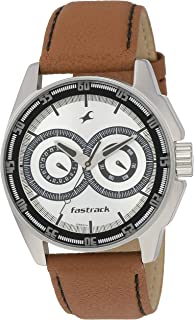 Fastrack Silver-White Dial Analog Watch for Men, NM3089SL07 / NL3089SL07