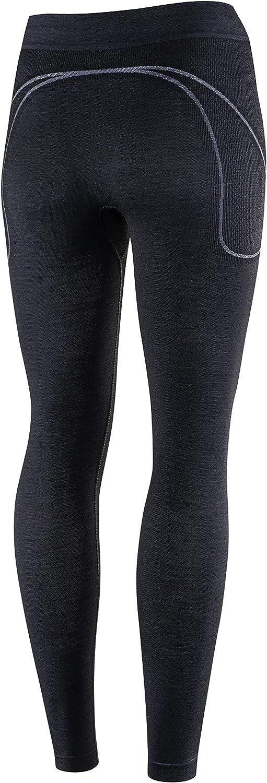 Leggings Outdoor Ski-Unterw/äsche 41/% Merino-Wolle Thermo LE11700 BRUBECK Damen Funktionsunterhose Lang Atmungsaktiv Sport