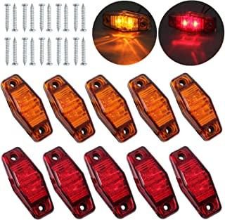 Eaglerich 10pcs 24v 3.8 6 LED Green Side Led Marker Trailer Marker Light Led Marker Light for Trucks Marker Light Cab Marker RV Marker Light Green Rear Side Marker Light