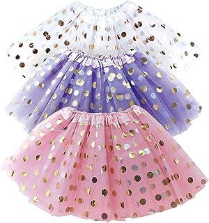 OLYPHAN Red Tutu for Toddler Girl White Pink Purple Tutu Skirt Girls Tutus Set Dress Up