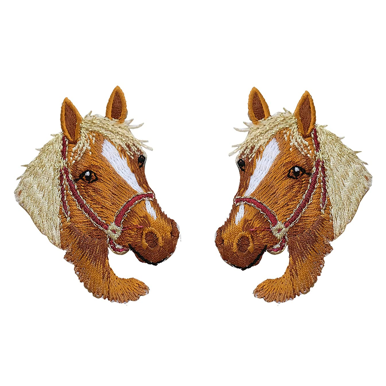 2 Pcs Cute Horse Delicate Embroidered Patches, Cute Embroidery Patches, Iron On Patches, Sew On Applique Patch, Clothes Shirt Decorate Accessory DIY Patchwork Cool Patches for Men, Women, Kids