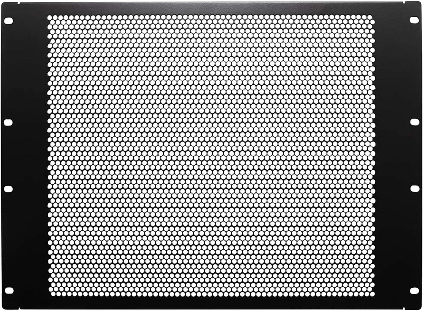 8U Black Slotted Flanged Filler Blanking Panel Spacer,19