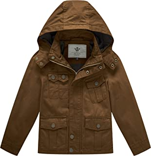 Boy's & Girl's Cotton Jackets with Removable Hood
