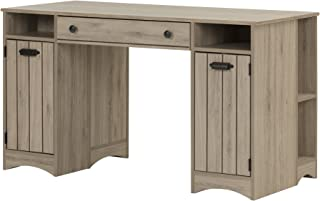 South Shore Artwork Craft Table with Storage, Rustic Oak