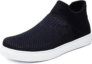 Slip on High Top Sneakers for Women Black Sneaker Shoes