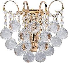 MW-Light Kristallen Wandlamp Klassiek Goud 1 Vlam E14 x 60W