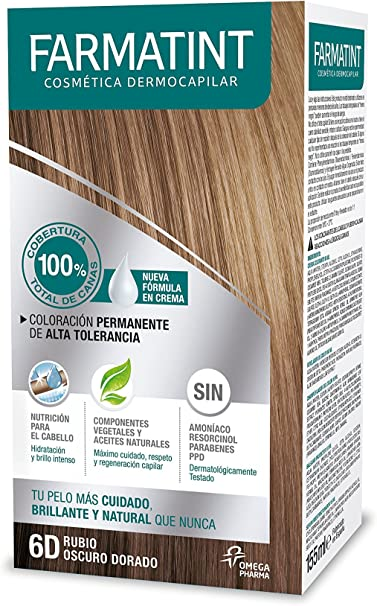 Farmatint Tinte Crema 5D Castaño Claro Dorado