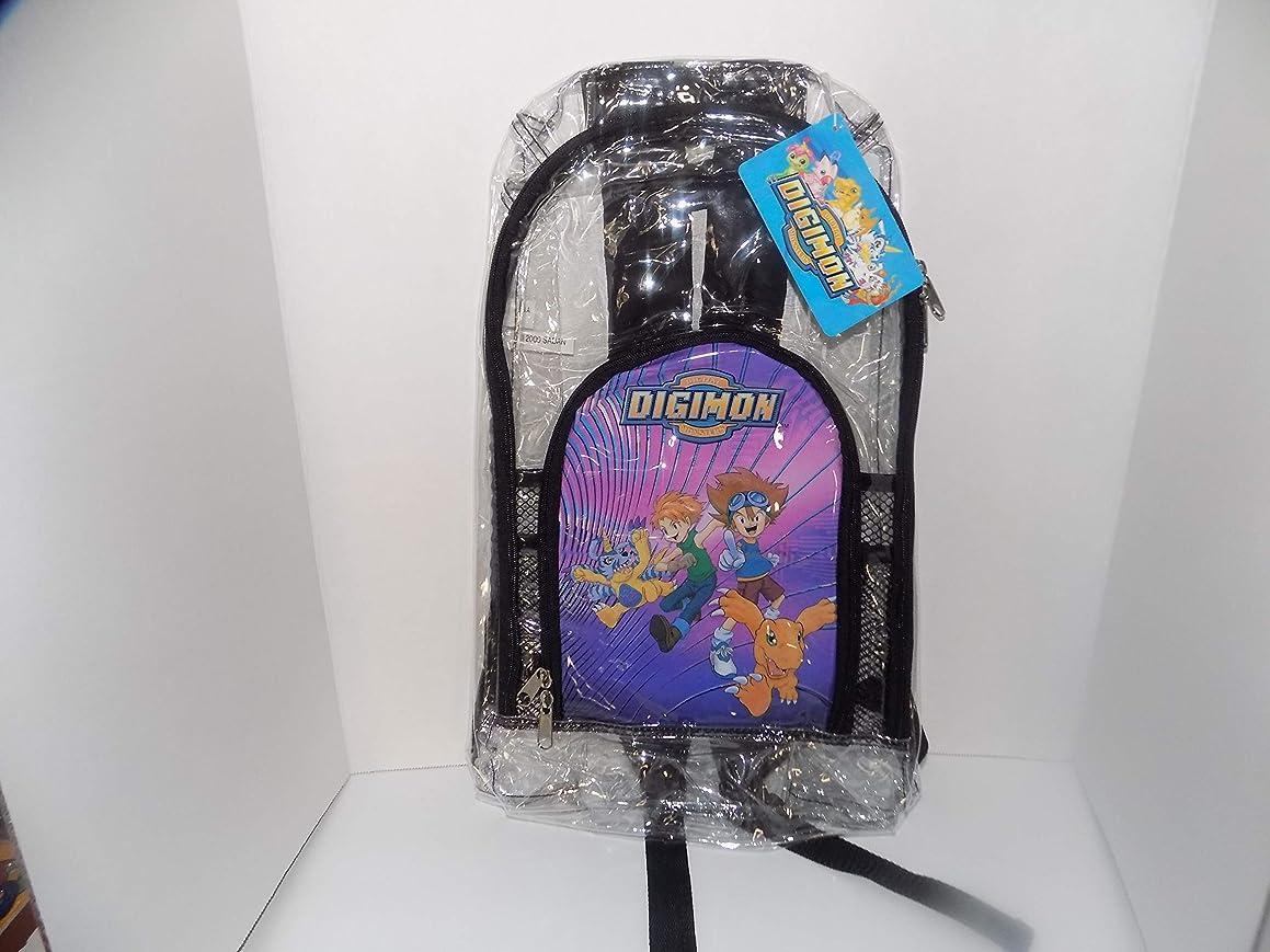 Digital Monster Digimon Clear Plastic Backpack