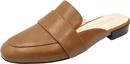 MAYPIE Womens Flat Mules and Slides Shoes Loafer Slippers Low Heel