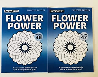 Volumes 46 and 47 of the FLOWER POWER Crossword PUZZLES from Penny Press Selected Series