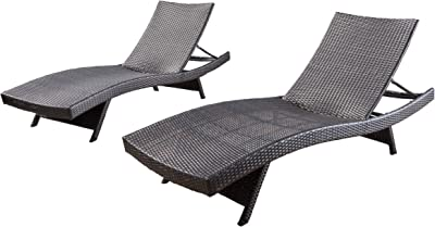 Christopher Knight Home Salem Outdoor Wicker Chaise Lounge Chairs Brown Set Of 2 Garden Outdoor