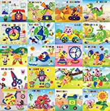 due Gattini(ドゥエガッティーニ) 知育シール 3Dシール 立体 子供 幼児教育 工作 アート 幼児 知育 知育教材 知育玩具 集中する アルファベット 英語 機内おもちゃ (XZ1-20 【20枚セット】)