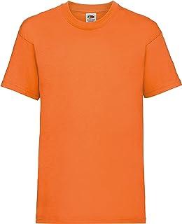 Fruit of the Loom - Camiseta básica de Manga Corta para niño/niña Unisex - 100% Algodon de Primera Calidad (Paquete de 2)