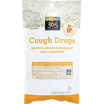 365 Everyday Value, Cough Drops, Honey & Lemon Flavor, 30 ct