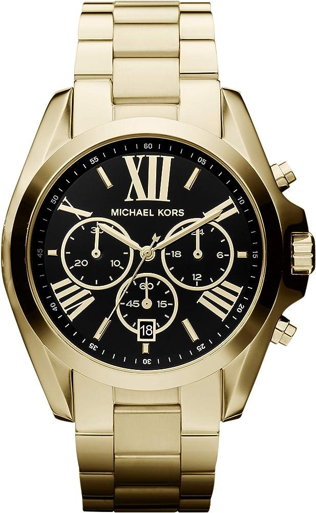 Michael kors, cronografo, orologio da donna, in acciaio inossidabile MK5739