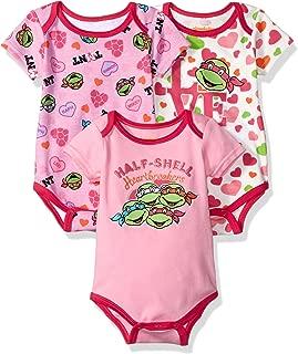 Baby Girls' Ninja Turtles 3 Pack Bodysuit