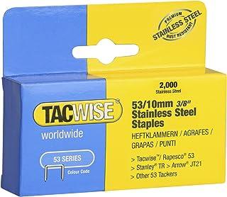 2.500 St/ück Tacwise 0368 Edelstahl-N/ägel Gewinkelt 16G//38mm