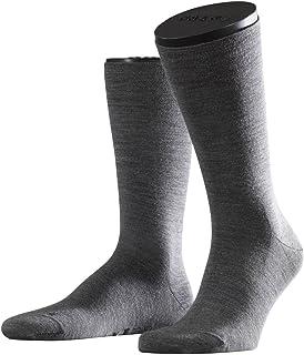 Talla del Fabricante: 42-43 UK 8-9 1 par Gris Falke Wool M So TK1 Calcetines de Trekking Hombre Smog 3150 Mezcla de Lana Merino