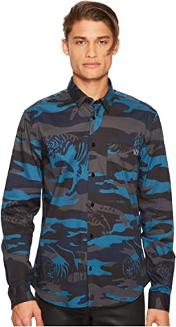 Tiger Camo Button Down