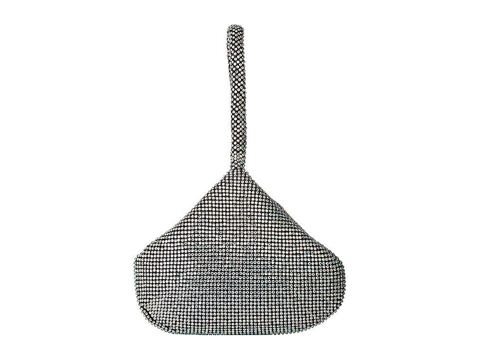 Jessica McClintock Staci Rhinestone Mesh Pouch Wristlet (Iridescent) Wristlet Handbags