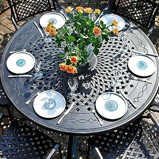Lazy Susan Amelia 150cm Tisch Gartenmöbelset - 1 AMELIA Tisch + 6 JANE Stühle