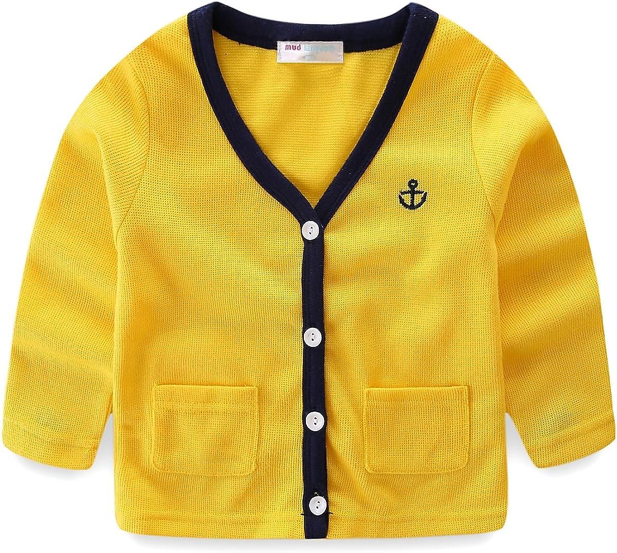 Mud Kingdom Little Boys Cute Cardigan Jacket Embroidered Casual