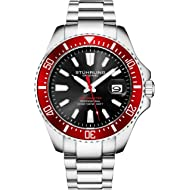 Stuhrling Original Mens Dive Watch - Pro Sport Diver with Screw Down Crown and Water Resistant to...