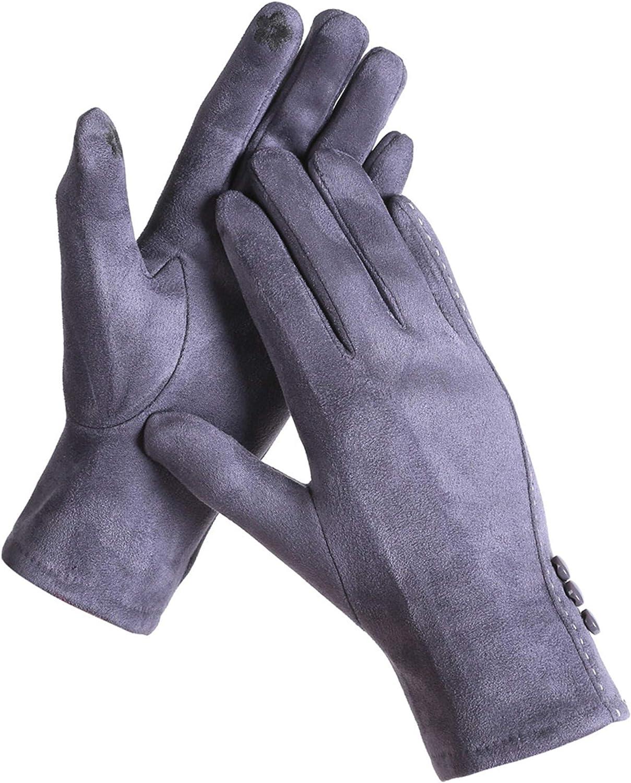 Belle Dame Women's Touchscreen Gloves Texting Gloves Winter Gloves Driving Gloves Warm Lining with Buttons