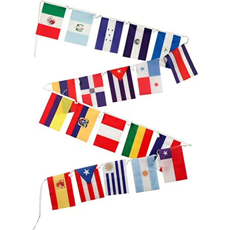 Amazon Com Spanish Language Country Flags For The Classroom 18 Latin American Countries Plus Spain Puerto Rico And New Equatorial Guinea Set Of 21 Polyester 8 X 12 Inches Office Products