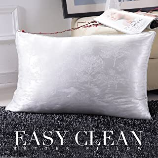 Fancy Collection Bed Pillow Queen Size Soft Hypoallergenic Extra Breathable for Sleeping, with Dust Mite Repellent, Silk Fabric and Feather Velvet for Firm and Breathable Sleeping New (1)