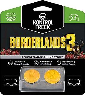KontrolFreek Borderlands® 3 Claptrap Performance Thumbsticks for Xbox One   2 Mid-Rise Convex Thumbsticks   Yellow