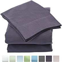 Callista Twin Size Sheet Sets- 100% Cotton-Extra Soft Sateen-Deep Pockets Twin Bedsheets - 400 Thread Count Easy Fit, Breathable and Cooling Sheets -Luxury 3 Pc Twin Set - Neutrale Grey