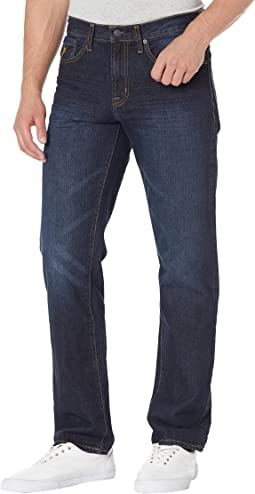 Classic Straight Fit Denim Jeans in Blue