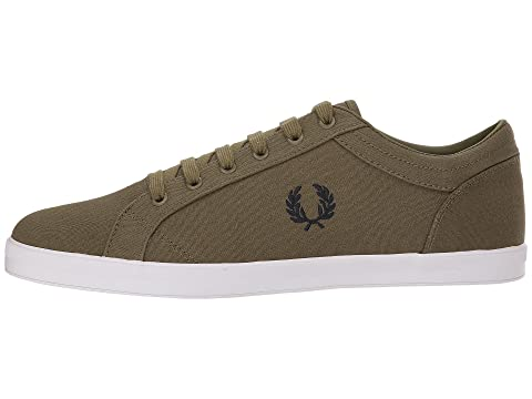 Fred Perry Baseline Canvas British Olive/Charcoal Outlet Shop For Online Pictures For Sale Shopping Online Outlet Sale Cheap Footlocker Pictures nvk0xA