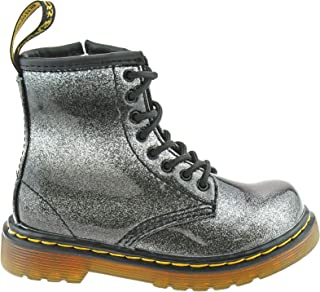 9a3f70e2967a3 Dr. Martens Infants 1460 Ombre Glitter T Black Silver 8 Eyelet Boots  24840012-