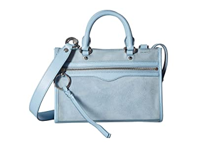 Rebecca Minkoff Micro Bedford Zip Satchel (Powder Blue) Satchel Handbags