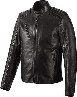 Men's Temerity Slim Fit Leather Jacket, Black