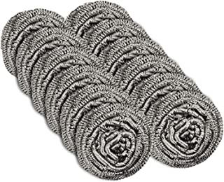 12 Pack Stainless Steel Scourers by Scrub It � Steel Wool Scrubber Pad Used for Dishes, Pots, Pans, and Ovens. Easy scouring for Tough Kitchen Cleaning.
