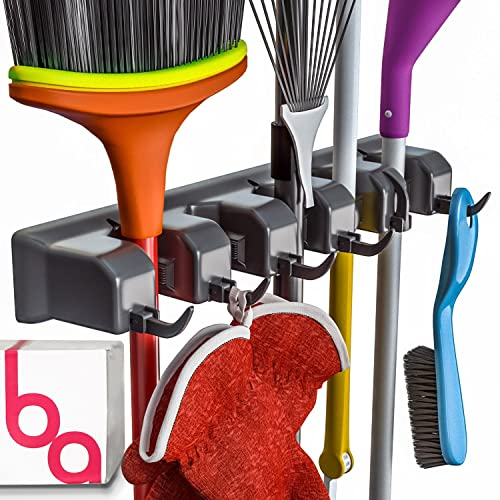 Berry Ave Broom Holder And Garden Tool Organizer For Rake Or Mop Handles Up  To 1.25