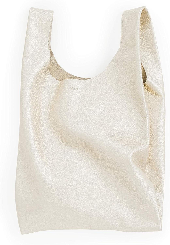 BAGGU Standard Leather BAGGU Bag, Regular Reusable Leather Bag