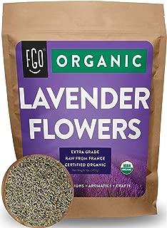 Organic Lavender Flowers Dried   Perfect for Tea, Baking, Lemonade, DIY Beauty, Sachets & Fresh Fragrance   100% Raw From France   Jumbo 16oz Resealable Kraft Bag   by Feel Good Organics