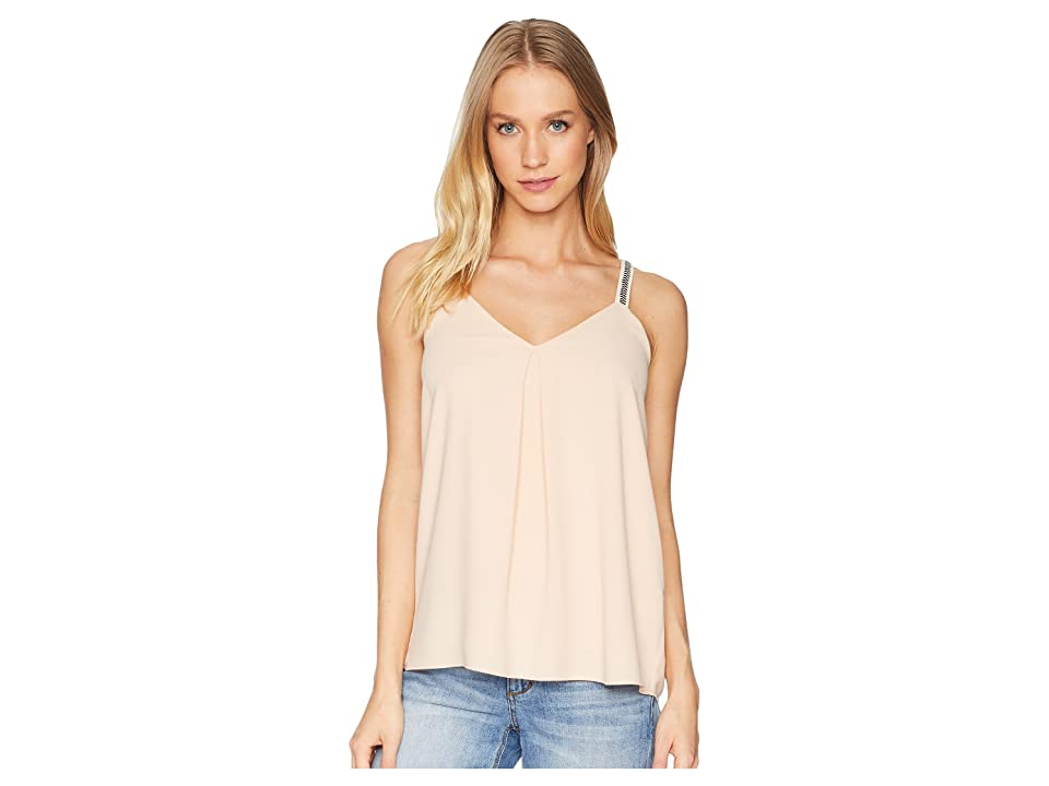 1.STATE Embroidered Strap Camisole (Peach Buff) Women
