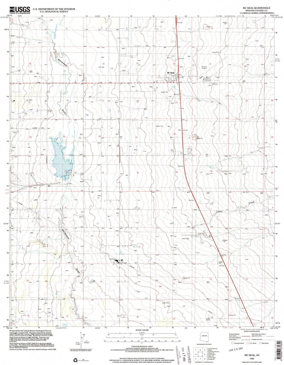 YellowMaps McNeal AZ topo Large discharge sale Luxury map X Minute 7.5 1:24000 Scale