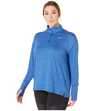 Nike Element 1/2 Zip Top (Sizes 1X-3X) (Indigo Force/Reflective Silver) Women