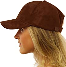Everyday Faux Suede 6 Panel Solid Suede Baseball Adjustable Cap Hat