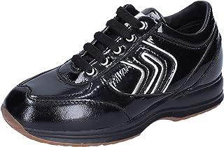Geox Sneaker Bambina Pelle Verniciata Nero