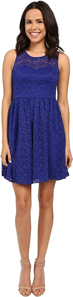 Floral Lace Fit and Flare Dress JS6D8645