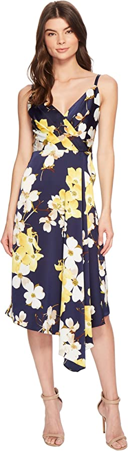 Dogwood Blossom Draped Slip Dress