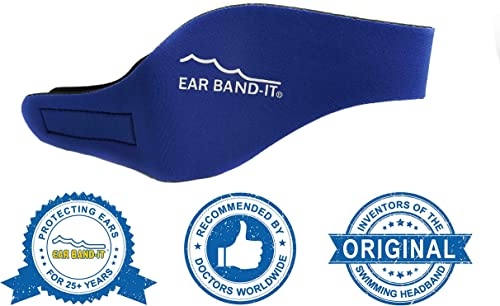 Ear Band-It Swimming Headband - Invented by Physician - Hold Ear Plugs in - The Original Swimmer's Headband - Doctor ...